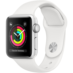 Hodinky s GPS APPLE Watch Series 3 GPS 38mm Silver
