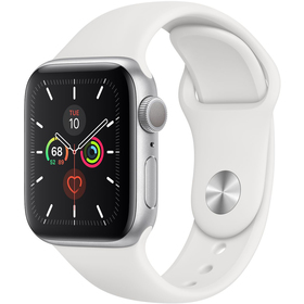 Hodinky s GPS APPLE Watch S5 40mm, Silver+Wh mwv62