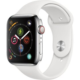 Hodinky s GPS APPLE Watch S5 44mm, Silver+Wh mwvd2