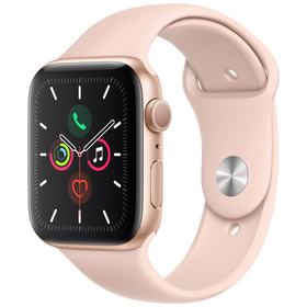 Hodinky s GPS APPLE Watch S5 44mm, Gold+Pink mwve2