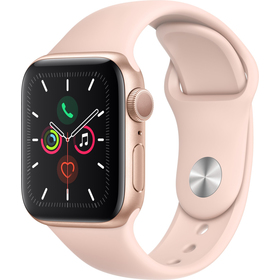 Hodinky s GPS APPLE Watch S5 40mm, Gold+Pink