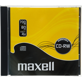 CD-RW 700MB 4x 1PK 10mm 624860 MAXELL