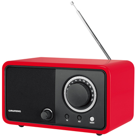 TR 1200 RED RETRO FM RADIO GRUNDIG