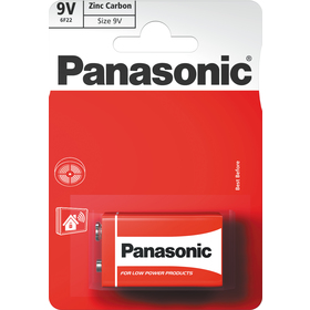 6F22 1BP 9V Red zn PANASONIC