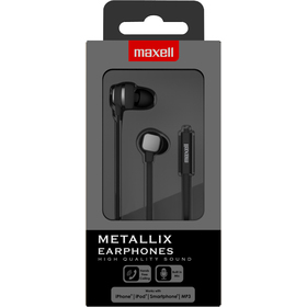 303791 METALLIX EARPH. SPACE GREY MAXELL