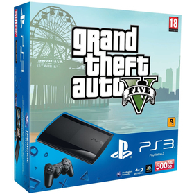 CONSOLE PS3 new 500GB + GTA5 hra SONY
