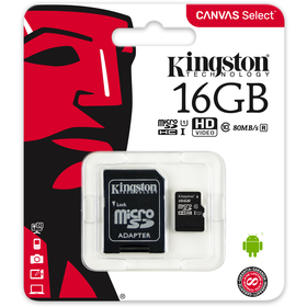 MicroSDHC 16GB UHS-I SDCS KINGSTON