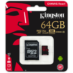 MicroSDXC 64GB UHS-I V3 80MB/s KINGSTON