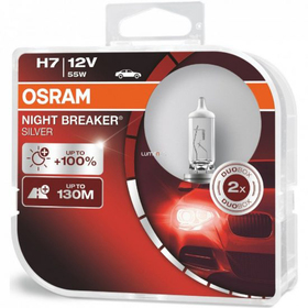 H7 NIGHT BREAKER Silver Duo box OSRAM